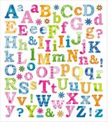 Floral Burst Alphabet Stickers