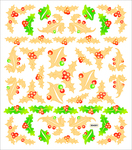 Gold Holly Stickers
