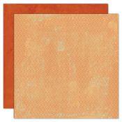 Bungalow You Are My Sunshine Mini Harlequin / Red Orange 12x12 Paper - My Mind's