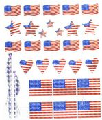 USA Flags Prismatic Stickers