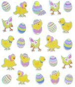 Easter Chicks Sparkle Stickers