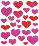 Hearts Sparkle Stickers
