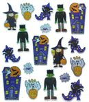 Haunted Halloween Sparkle Stickers