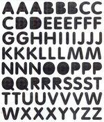 Black Letters Prismatic Stickers
