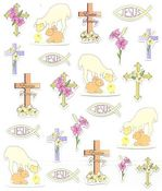 Easter Religious Stickers