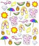 Tropical Seashore Stickers