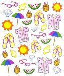 Tropical Seashore Stickers