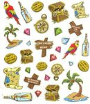 Treasure Hunt Stickers