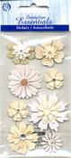 Cream & Sugar Flowers Stickers - Sandylion