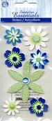Sea Breeze Flowers Stickers - Sandylion