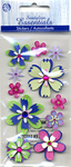 Island Oasis Flowers Stickers - Sandylion