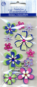 Island Oasis Flowers Stickers - Sandylion