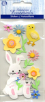 Easter Bunny & Flowers Stickers - Sandylion