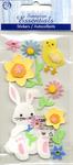 Easter Bunny & Flowers Stickers - Sandylion