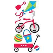 Trike, Wagon & Balls Stickers