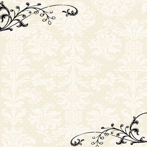 Cream Damask 12x12 Paper - Creative Imaginations