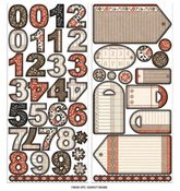 Day By Day Tags & Numbers Chipboard