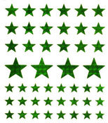 Emerald Stars Large Stickers