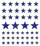 Sapphire Stars Large Stickers
