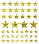 Gold Stars Large Stickers