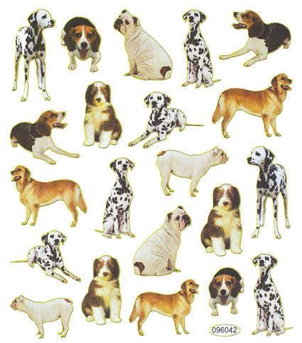 Varieties of Dogs Stickers