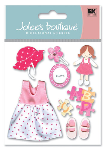 Toddler Girl 3D  Stickers - Jolee's Boutique