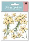 Cream Floral 3D  Stickers - Jolee's Boutique