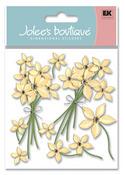 Cream Floral 3D  Stickers - Jolee's Boutique