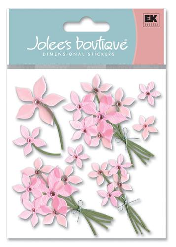 Pink Floral 3D Stickers - Jolee's Boutique