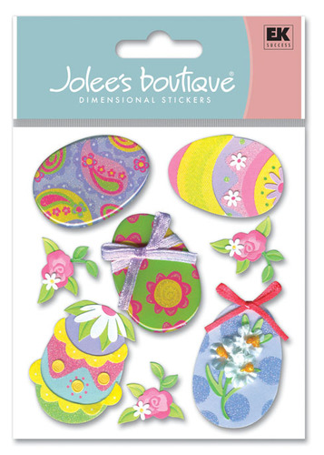 Easter Eggs 3D  Stickers - Jolee's Boutique