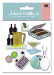 Bachelor Party 3D  Stickers - Jolee's Boutique