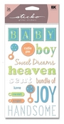 Baby Boy Glitter Sticko Stickers