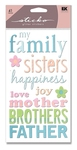 Family Glitter Sticko Stickers