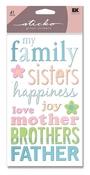 Family Glitter Sticko Stickers