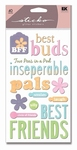 Friendship Glitter Sticko Stickers