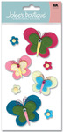 Playful Butterflies Le Grande Felt 3D  Stickers - Jolee's Boutique