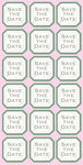 Save The Date Cardstock Stickers