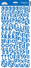 Blue Jean Loopy Lou Stickers by Doodlebug