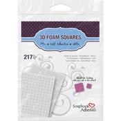 Variety Sized 3D Foam White Squares - 3L Scrapbook Adhesives