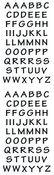 Alphabitsy Black - Mrs Grossman's Stickers