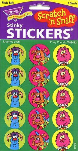 Furry Friends Scratch n Sniff Stickers