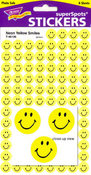 Neon Yellow Smilies Stickers by Trend
