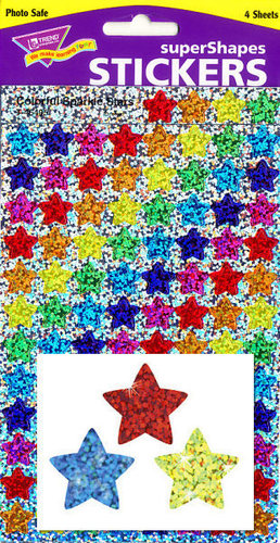 Colorful Sparkle Stars Stickers by Trend