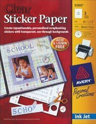 Clear Sticker Paper - Avery