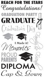 Graduation Phrases Rub-Ons