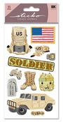 US Soldier Sticko Stickers