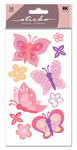 Pretty Butterfly Glitter Sticko Stickers