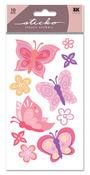 Pretty Butterfly Glitter Sticko Stickers