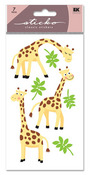 Giraffe Glitter Sticko Stickers