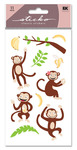 Monkey Glitter Sticko Stickers